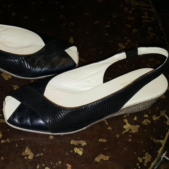 cb0f116eaa1d Amalfi by Rangoni Shoes - Amalfi by Rangoni Italy Made Sz 8 Black Slingbacks